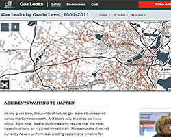 Gas Leaks Map