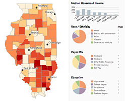 Illinois Public Health Community Map